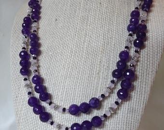 Purple Jade Necklace
