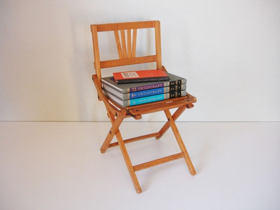 RESERVED childs folding wooden chair