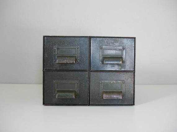 industrial index filing metal drawer set