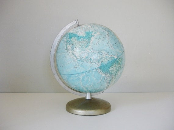 rand mcnally world portrait globe