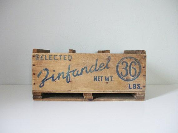 zinfandel grape crate