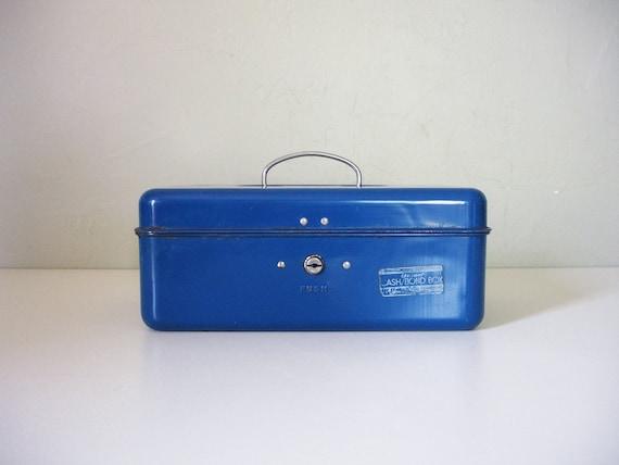 blue union metal cash box