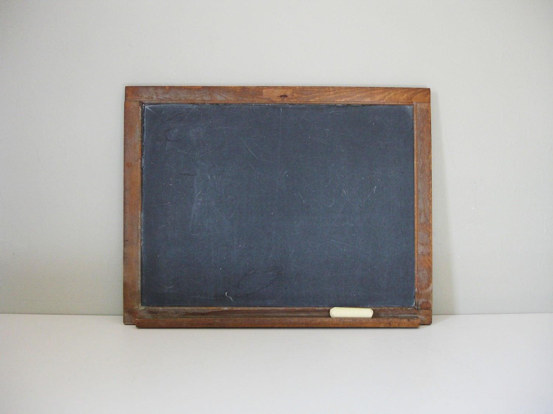 Classroom Chalkboard Decor ~ Vintage slate chalkboard
