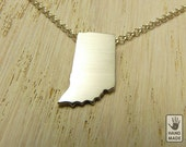 I heart  INDIANA , sterling silver necklace, sterling silver chain