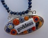 GODDESS Mosaic Glass Millefiori  n Bead Pendant