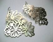Flower earrings silver plated