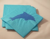 Custom Order For Elizrbrown - Blue Dolphin Paper Cocktail/ Luncheon/ Dinner Napkins