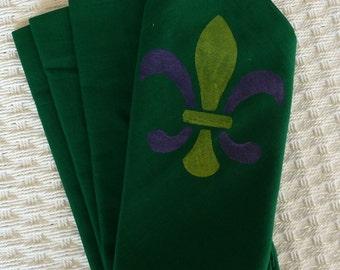 Mardi Gras Cloth Napkins - Set of 4