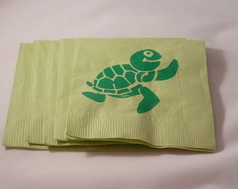 Green Turtle Paper Cocktail/ Luncheon/ Dinner Napkins