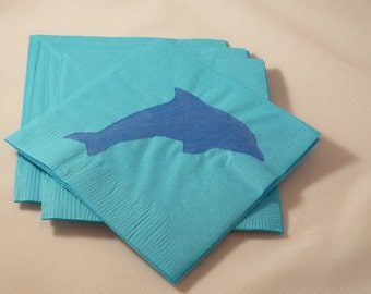 Blue Dolphin Paper Cocktail/ Luncheon/ Dinner Napkins