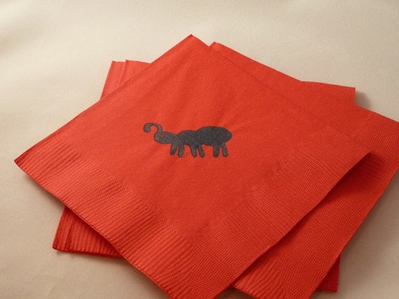 Ant Paper Cocktail/ Lunch/ Dinner Napkins - Red and Black