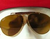vintage ray ban sunglasses aviator 1980s 1970s pilot rayban