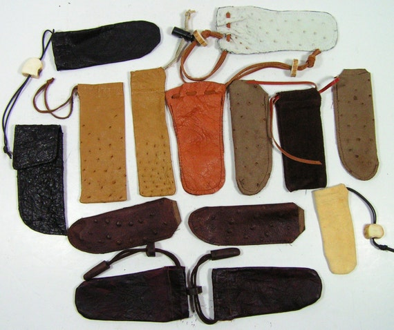 knife sheath cases sheathes ostrich fish leather stag fixed blade folders knives sheathes