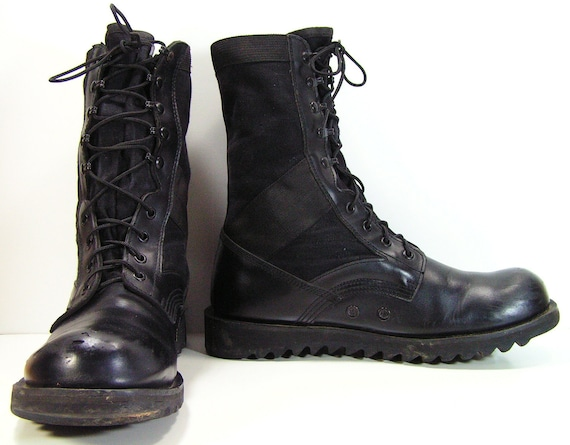 combat boots mens 12 d black work grunge by
