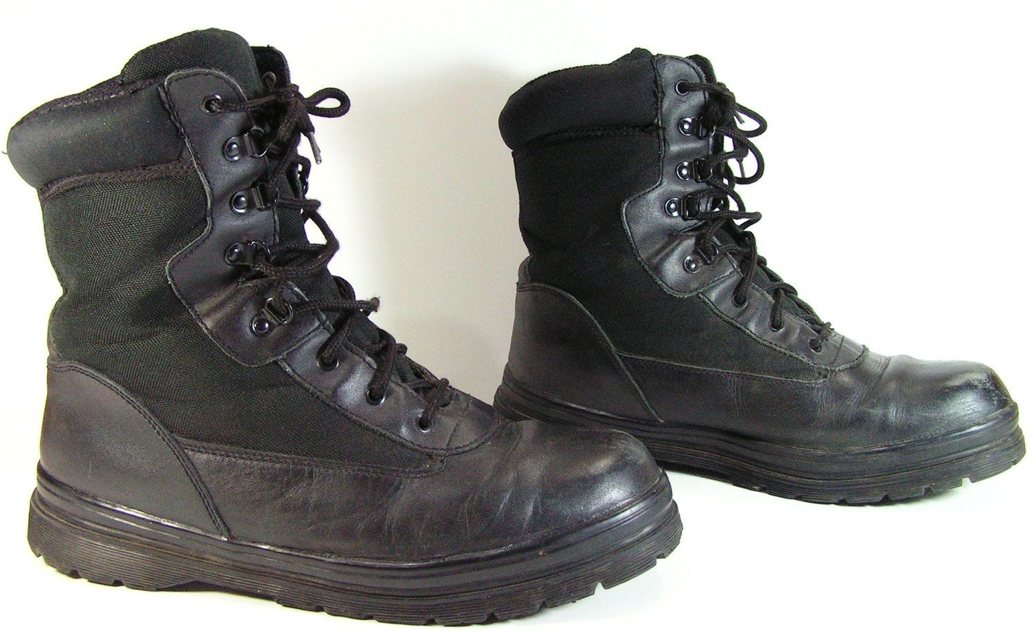 Black Combat Boots Mens - Cr Boot