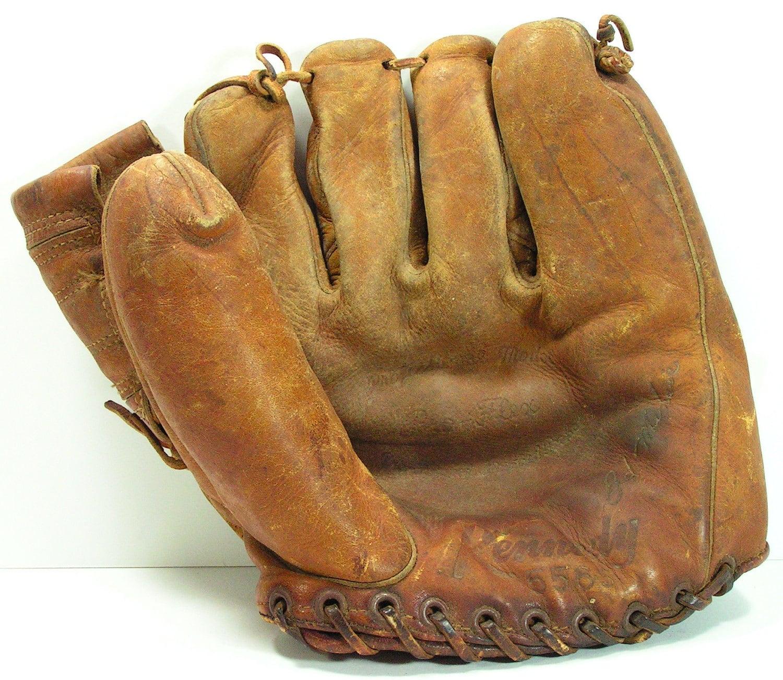 Antique Baseball Glove Kennedy 556 S Ed Miksis Brooklyn