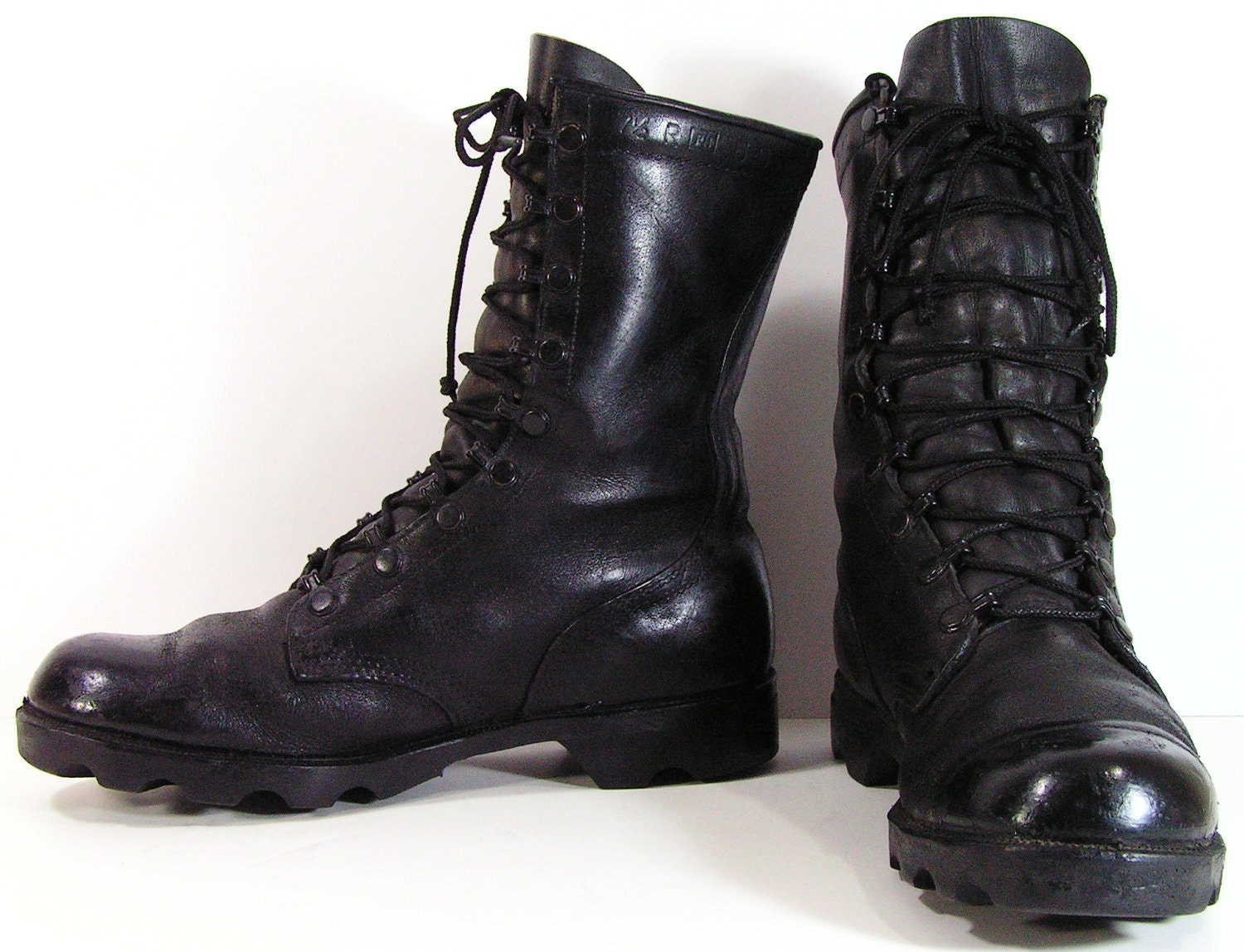 Men's Black Leather Boots Vintage | NATIONAL SHERIFFS' ASSOCIATION