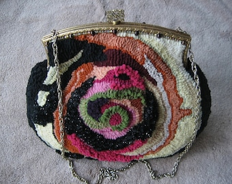 Crystal Ball Antique Frame Hooked Purse