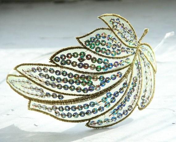 Tindra headband in Olivine