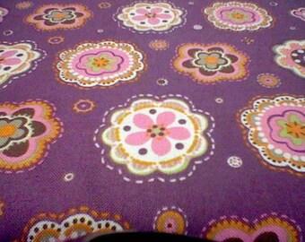 David Textiles Retro Flowers 1/2 yd