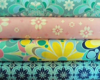Grand Hotel Veranda Teal fabric bundle 1 yard each