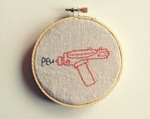 Pew Pew Phaser Embroidery Wall Art