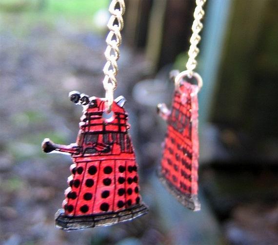 Doctor Who Red Dalek Earrings