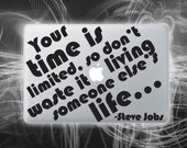 Limited time vinyl decal Steve Jobs quote sticker for macbook