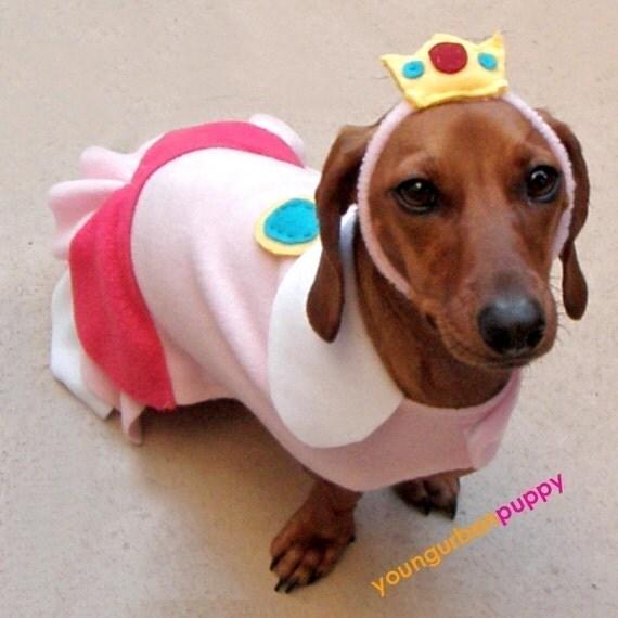 PRINCESS PEACH NINTENDO Dress Dog Costume