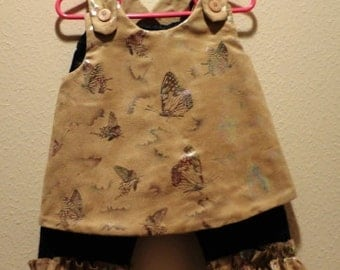 Little Girl Butterfly Pant Outfit