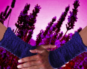 Fabulous Feather and Fan fingerless Gloves - downloadable PDF pattern only