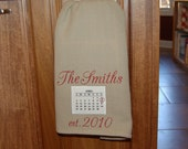 Calendar Wedding Day - Anniversary - You Pick the Day Kitchen Hand Towel