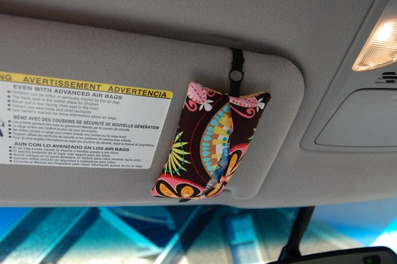 Car Visor Travel Tissue Case Holder  Made to Match