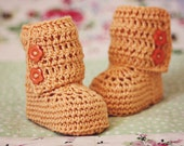 Crochet Baby Booties - Baby Ankle Boots ready to wear (0-6 months)
