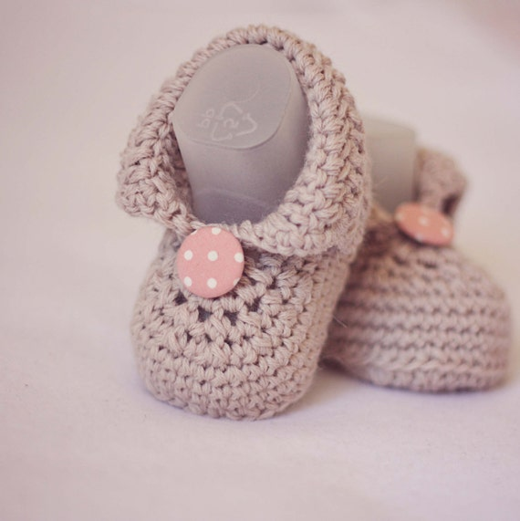Crochet Baby Booties - Baby Boots - ready to wear (6-9 months)