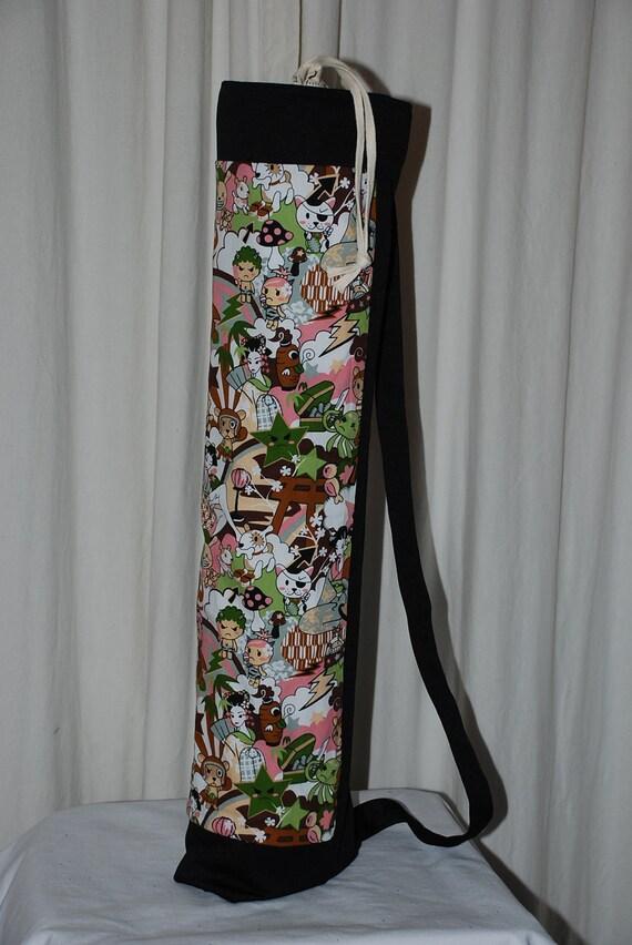 yoga mat bag with drawstring closure, Hawaii, kawaii,Tomodachi, Japanese Anime
