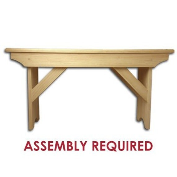 Wooden Bench Kit ~ Items similar to new outdoor pine wood unfinished bench