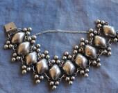 Carmenn Beckmann vintage repousse sterling bracelet