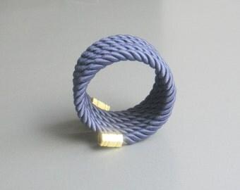 Rope bracelet nautical blue