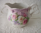 Lovely Roses on small china pitcher