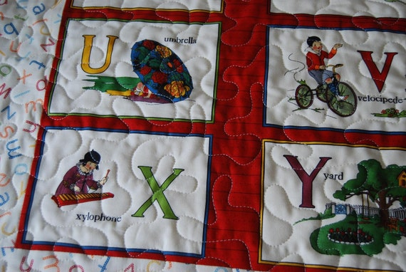 Quilted Alphabet Wall Hanging - Sale Price