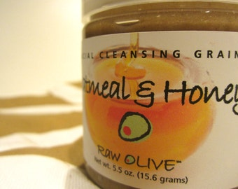 Organic Oatmeal and Honey Facial Cleansing Grains