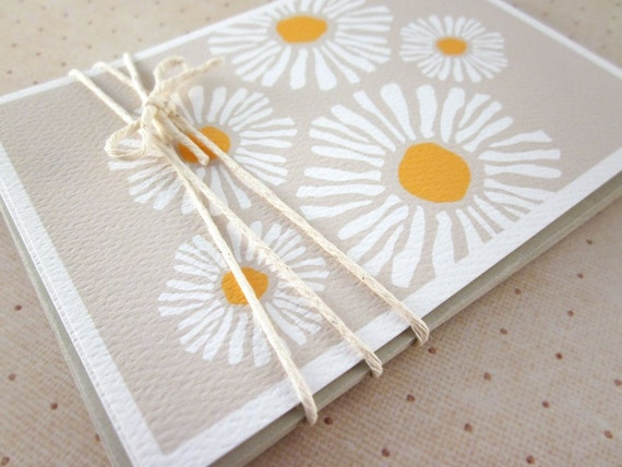 Daisy Blank Note Card Set - 6PK