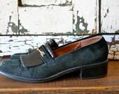 Vintage Etienne Aigner Suede HORSEBIT Loafers
