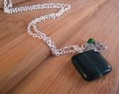 Emerald Green Shamrock Charm Necklace