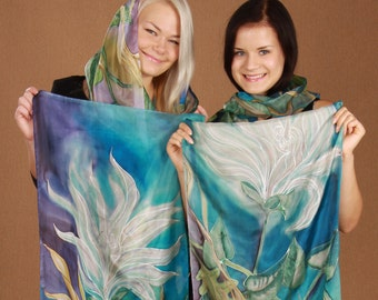 Silk scarf of your dreams designed for you and hand painted by artist, VIP service