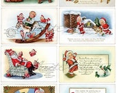 Instant Download Christmas Nick Be Nimble Vintage Postcards Digital Collage Sheet