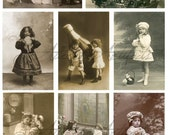 Instant Download Oh Yum Victorian Children Cab Cards Food Eating Tin Prints Digital Collage Sheet