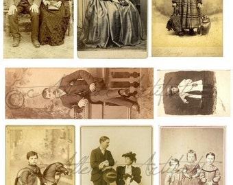 Instant Download Victorian Tin Prints Vintage Postcard Scrap Clip Art The Way We Were Steam Punk Steampunk Digital Collage Sheet