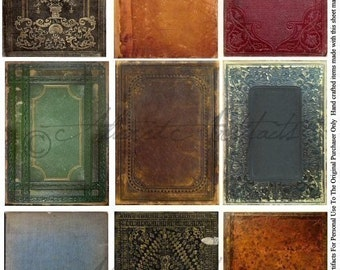Instant Download Old Book Vintage ATC Backgrounds Trade Cards Frames Altered Aged Steampunk Stained Mixed Tags Albums Grunge Digital Sheet